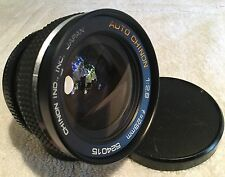 AUTO CHINON 28mm 1:2.8 WIDE ANGLE LENS with PENTAX M42 MOUNT in EXCELLENT COND.