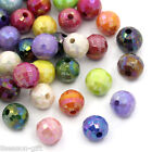 "300PCs Mixed AB Color Faceted Round Acrylic Spacer Beads 8mm(3/8"") Dia"