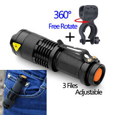 1200lm Cree Q5 LED Cycling Bike Bicycle Head Front Light Flashlight w/ Mount USA