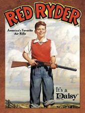 Red Ryder Daisy Air Rifle BB Gun TIN SIGN Vintage Poster Decor Childhood Ad