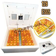 128 Digital Egg Incubator Hatcher Temperature Control Automatic Turning Chicken