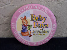 Baby Days at Wal-Mart Promotional Pin Button Beatrix Potter