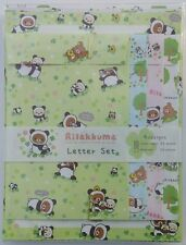 Rilakkuma Panda Green 4-Design Kawaii Letter Set stationery Penpals