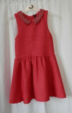 Girls 8 years Next Dress Party Red Beaded