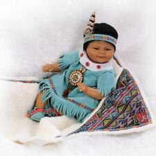 """Silicone Reborn Boy Alive Doll Realistic Native American Indian Baby Doll 17"""""""
