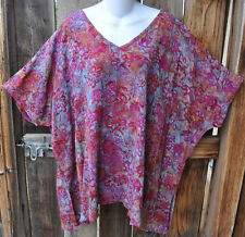 """ART TO WEAR MISSION CANYON BL 12 V NECK TUNIC IN ALL NEW ULURU, OS+, 56""""B"""