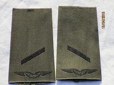 Bw-Rangschlaufen:Gefreiter ,Luftwaffe, schwarz/oliv