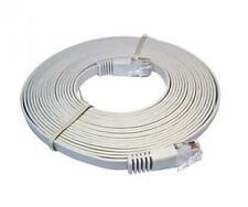Cat6 RJ45 UTP Flat Network Cable / Patch Cable (Grey) 10m