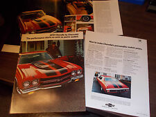 1970 Chevrolet Chevelle Original Sales Catalog Featuring the SS model Throughout