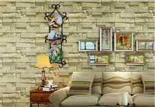 10M wallpaper 3D Brick STONE Natural Colour Slate outdoor rustic look beige