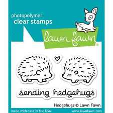 NEW LAWN FAWN HEDGEHUGS CLEAR ACRYLIC STAMP SET