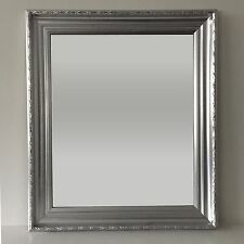 Transitional Picture Frame Silver Wall Mirror 25 in. x 29 in. New Glass