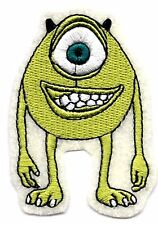 Monsters University MIKE WAZOWSKI Disney Embroidered Iron On / Sew On Patch