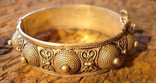 Moroccan Tuareg style large tarnished ornate opening bracelet cuff with points