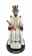 "10"" Rey Justo Juez Statue Religious Cross Just Judge Figure Image King"
