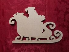 MDF Wooden Santa's Sleigh 2 Christmas Decoration