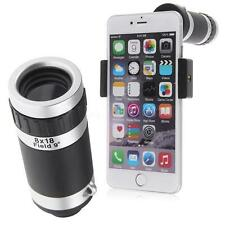 Universal 8 x Camera Lens Zoom Mobile Phone Telescope Clip-On for Apple Samsung