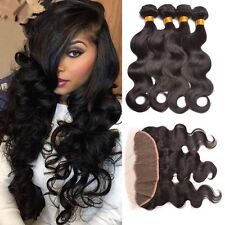400g/4bundles 8A virgin malaysian bodywave human hair & 13x4 lace frontal 5pcs