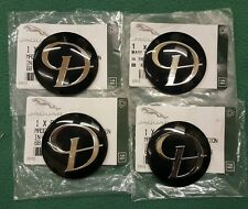 DAIMLER JAGUAR BLACK SILVER D ALLOY WHEEL CENTER CAP BADGES NEW GENUINE SET 4