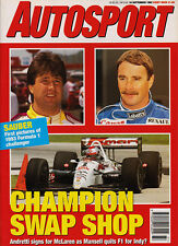 Autosport 10 Sep 1992 - Andretti to McLaren - Mansell to America, Will Gollop