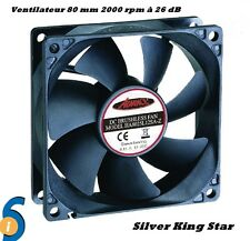 VENTILATEUR PC ADVANCE 80mm 2000 rpm SILENCIEUX 26 dB COOLING FAN 80 mm + 4 vis