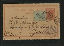 Romania  postal letter card uprated to Switzerland               MS0527