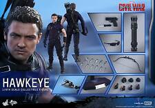 HOT TOYS 1/6 MARVEL CAPTAIN AMERICA CIVIL WAR MMS358 HAWKEYE ACTION FIGURE