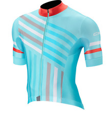 NEW Capo Cycling GS Short Sleeve Jersey| Blu-Red| Crafted in Italy| Men's Large