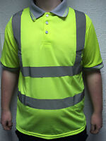 Yellow or Orange Hi Vis High Visibility Hi Viz Polo Shirt (FLORIDA/COLORADO)