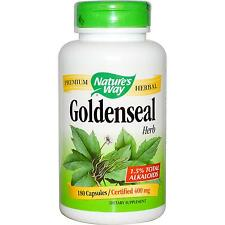 Nature's Way, Goldenseal Herb, 400 mg, 180 Capsules