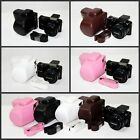 Leather camera case bag for Samsung NX2000 NX1000 NX1100 With 20-50 mm lens