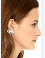 Occident Retro Right Ear Cuff Clip Crystal Wings Leaf Pearl Stud Earring 1PC
