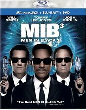 MEN IN BLACK 3 New Sealed Blu-ray 3D + Blu-ray + DVD
