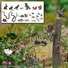 BUSCH 1153 H0 Kleintier-Set, unbemalte Fig., Schmetterlinge, Frösche, Schlangen