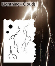 airbrush stencil Lightning Clouds Moons Template Stencils Spray Vision
