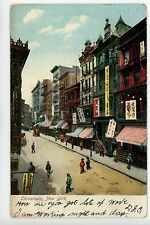 Chinatown NYC Antique UDB PC SIGNS Old Manhattan ca. 1907