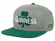 Guinness Beer Dublin Snapback Cap (Gray/Green) One Size Fits All, Adjustable Hat