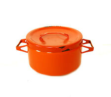 Large Finel Orange 2.5 L Dutch Oven Stock Pot Seppo Mallat Arabia Finland