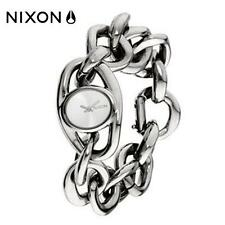 Authentic NIXON Ladies ALICE Watch NEW RRP $459 Polished Silver Chain Bracelet