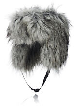 t15 IMPOSTER Faux Fur Silver Fox mélange Trapper Russian Hat Animal Friendly