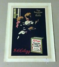 Antique Advertisement Print Kellogg's The Sunshine of Home Corn Flakes Ad 1913