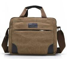 Men's Vintage Canvas School Satchel Messenger Military Shoulder Leather Bags