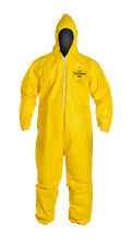 3XLarge DUPONT Tychem Tyvek QC127S Yellow Coverall Chemical Hazmat Suit w/ Hood