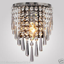 Modern Crystal Chandeliers Semi Circular Wall light Living Bedroom 60W Lamp