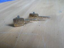"Rare Vintage GM General Motors ""Mark of Excellence"" Key Cufflinks Gold Tone USA"