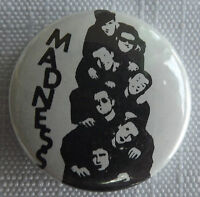 "MADNESS Old Vtg 1980`s  Button Pin Badge(25mm-1"")Ska 2 Tone  #NB502"