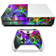 Skin Decal Wrap for Microsoft Xbox One S Neon Splatter