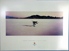 "SPEED SKATING - SLC 2002 Olympic Poster  Sports Series, 13"" X 18"", USA,  Adult"