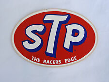 "Vintage NOS Oval STP Racing Oil 3 1/4"" x 5"" Sticker/Decal"
