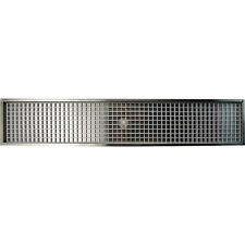 """30 1/4"""" Flanged Mount Drip Tray- Stainless Steel w/ Drain - Bar Draft Beer Spill"""